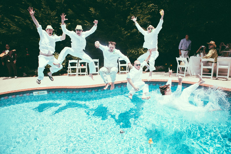 Backyard Pool Party Nontraditional Wedding