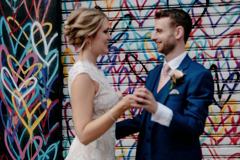 graffiti wedding photos NYC